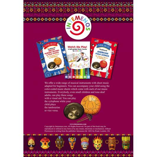Xylophone, Glockenspiel, Bells for Beginner Adults. 45 Traditional African Songs: Play by Letter Paperback