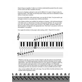 Keyboard for Beginner Adults. 51 Simple Songs from Around the World: Play by Letter