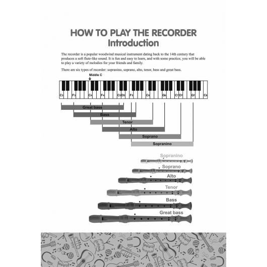Recorder for Beginners. 50 Easy-to-Play Songs from Over the World: Easy Solo Recorder Songbook