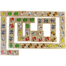 Wooden Dominos Funny Animals
