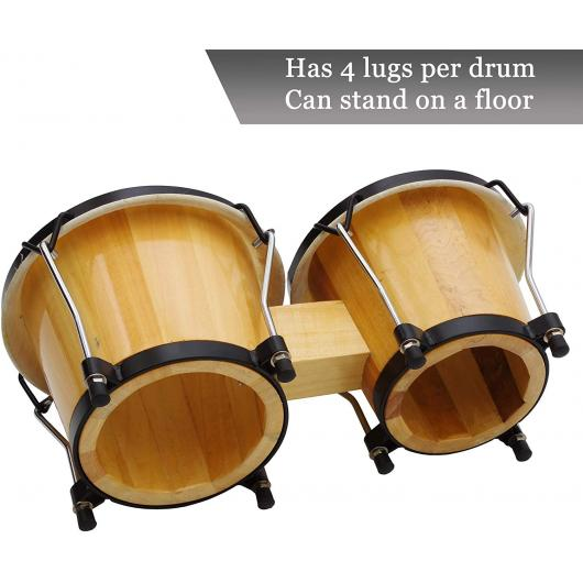 Bongo Drums 6 in and 7 in, Bag, Tuning Key