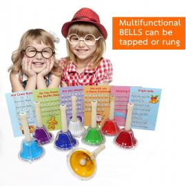 Diatonic 8-note Multi-Color Musical Bell Set for Kids