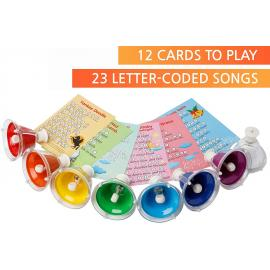 Bell Set with Buttons 8 Colored Bells, 23 Songs