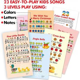 Color Diatonic Bells - 8 Note Musical Bell Set - Desk Bells Percussion Toy