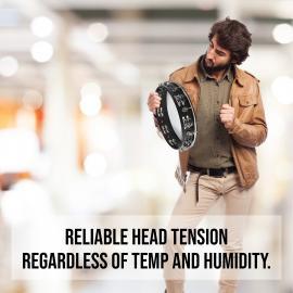 Tambourine 12 inch Large Tunable Plastic Drum Head