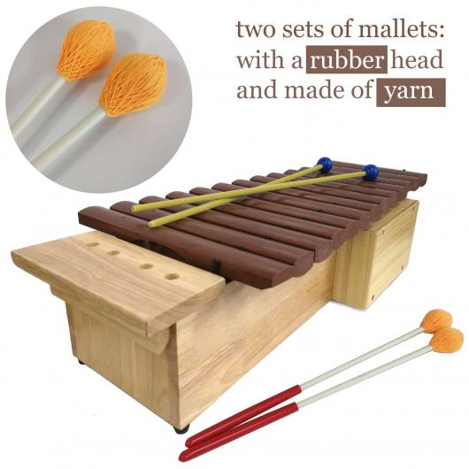 Orff Soprano Xylophone, 16 keys, 4 mallets