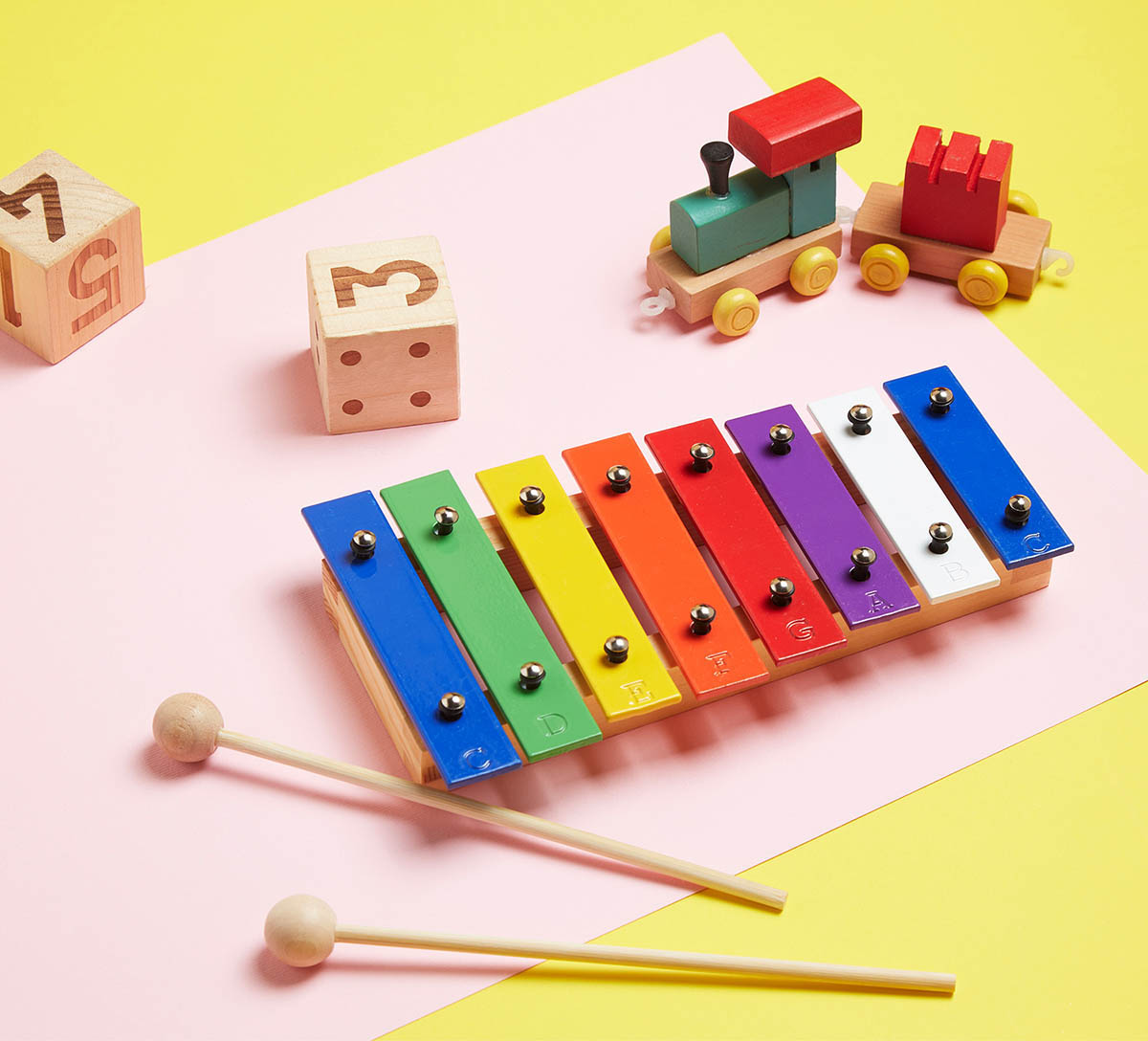 mini color 8 note xylophone
