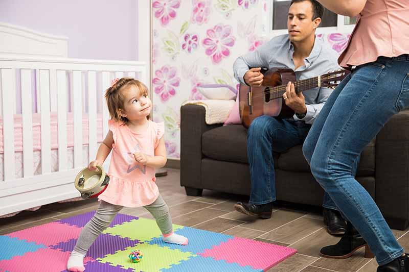 Small tambourines for children