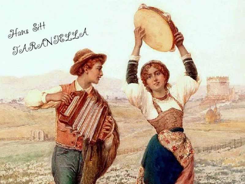 Tambourine Art Hans Sitt Tarantella